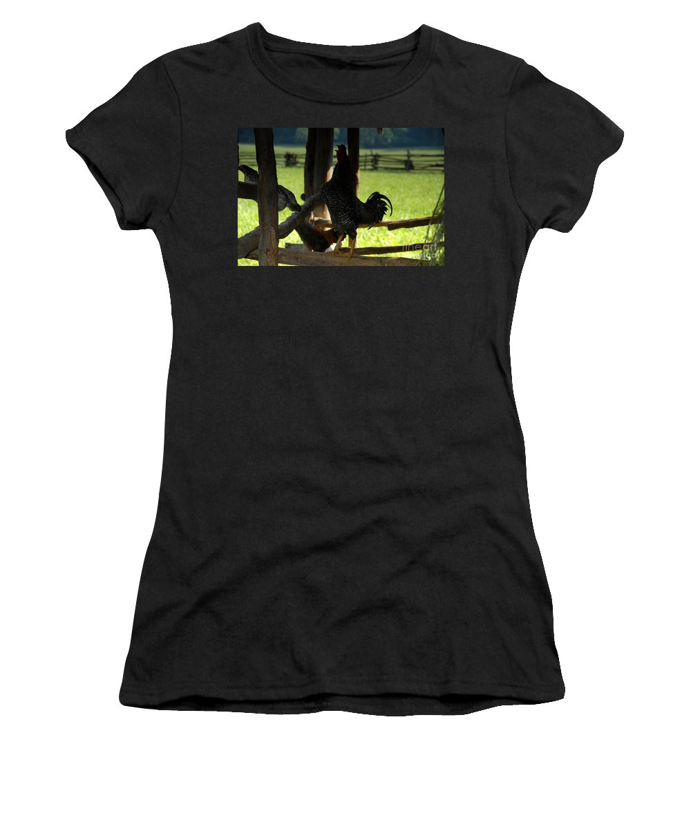 Farm Women's T-Shirt (Athletic Fit) featuring the photograph Voice Of The Farm by David Lee Thompson