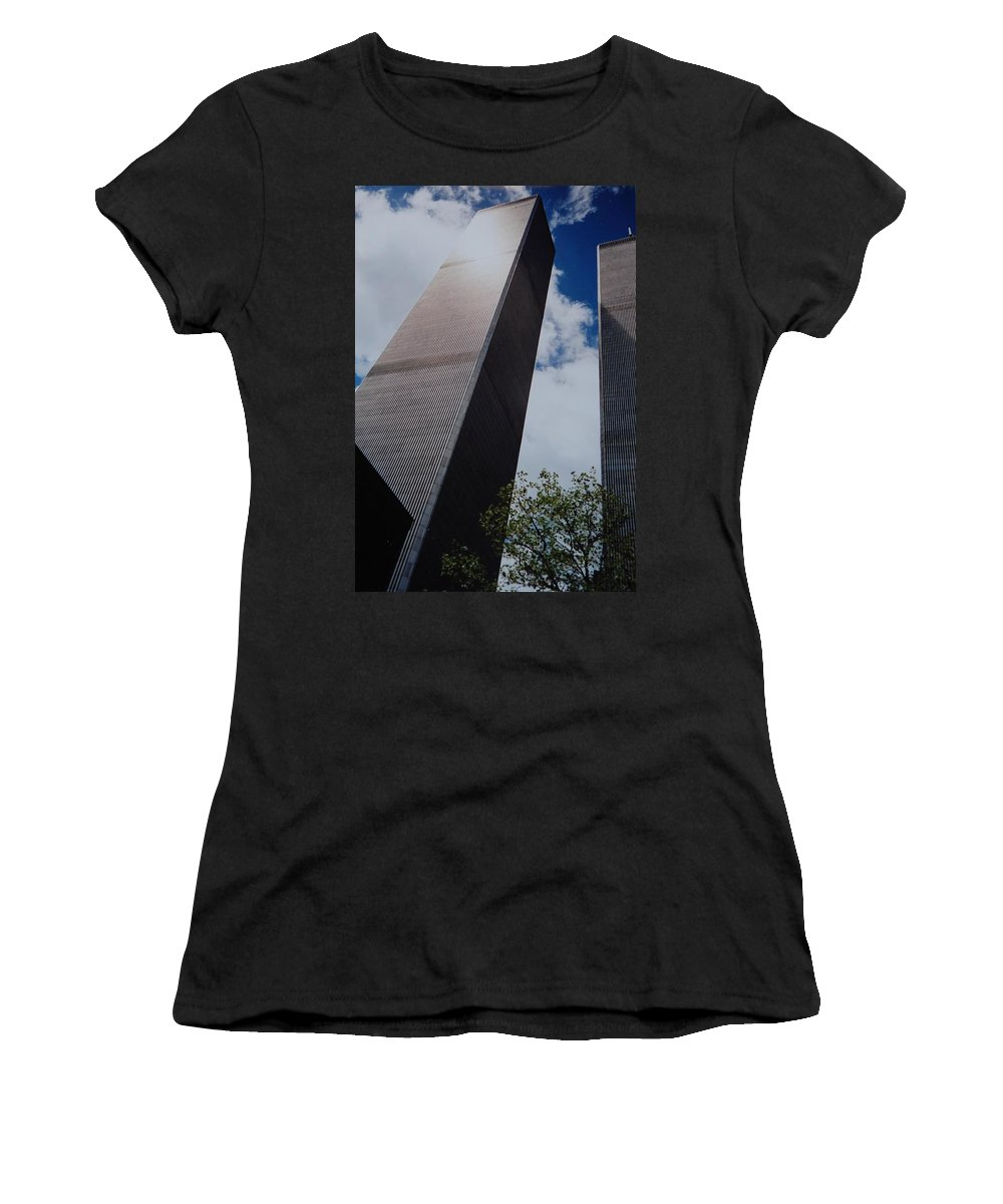 Wtc Women's T-Shirt featuring the photograph W T C 1 And 2 by Rob Hans