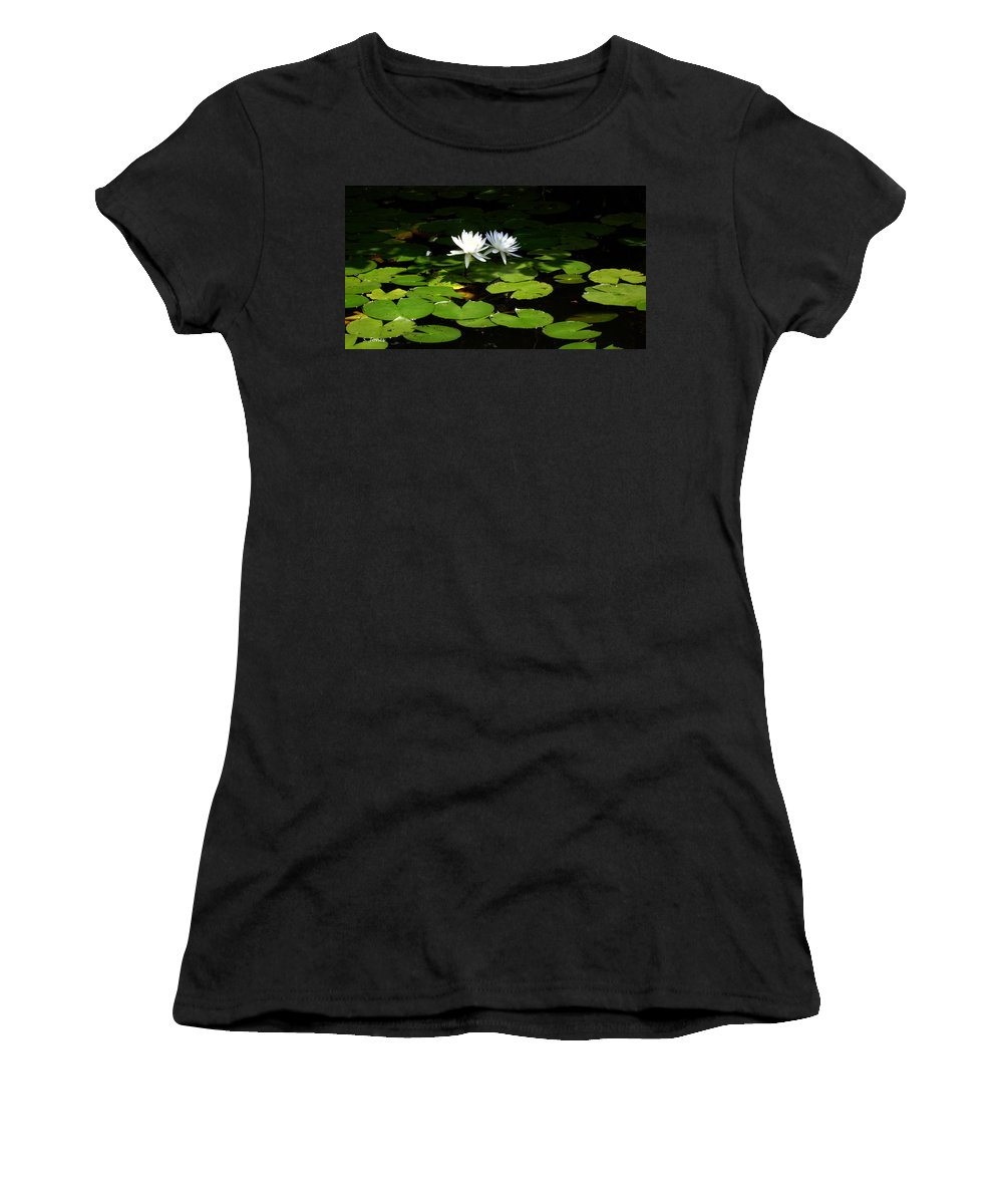 Water Women's T-Shirt (Athletic Fit) featuring the photograph Wading Fairies by Shelley Jones