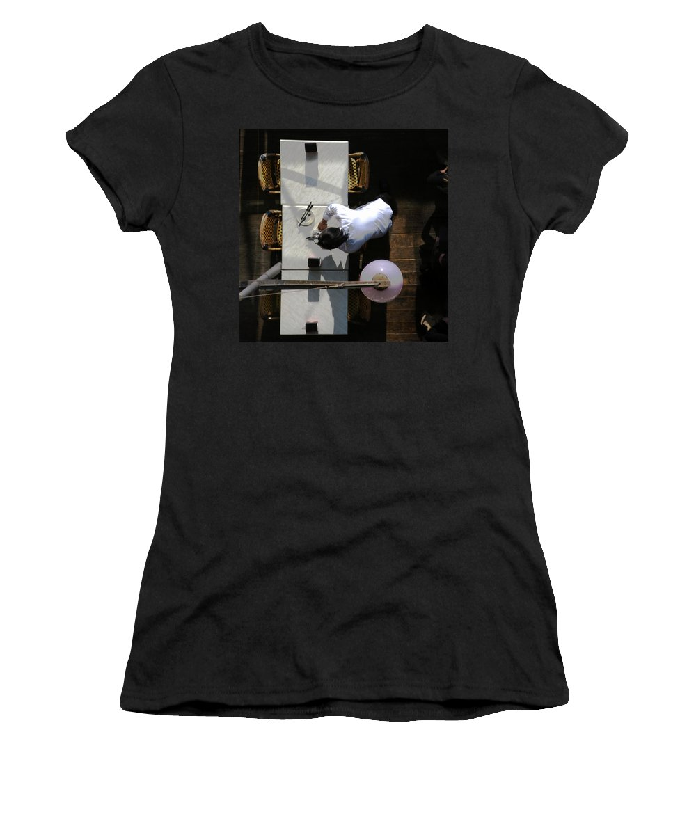 Waiter Women's T-Shirt (Athletic Fit) featuring the photograph Waiter From Above by David Chasey