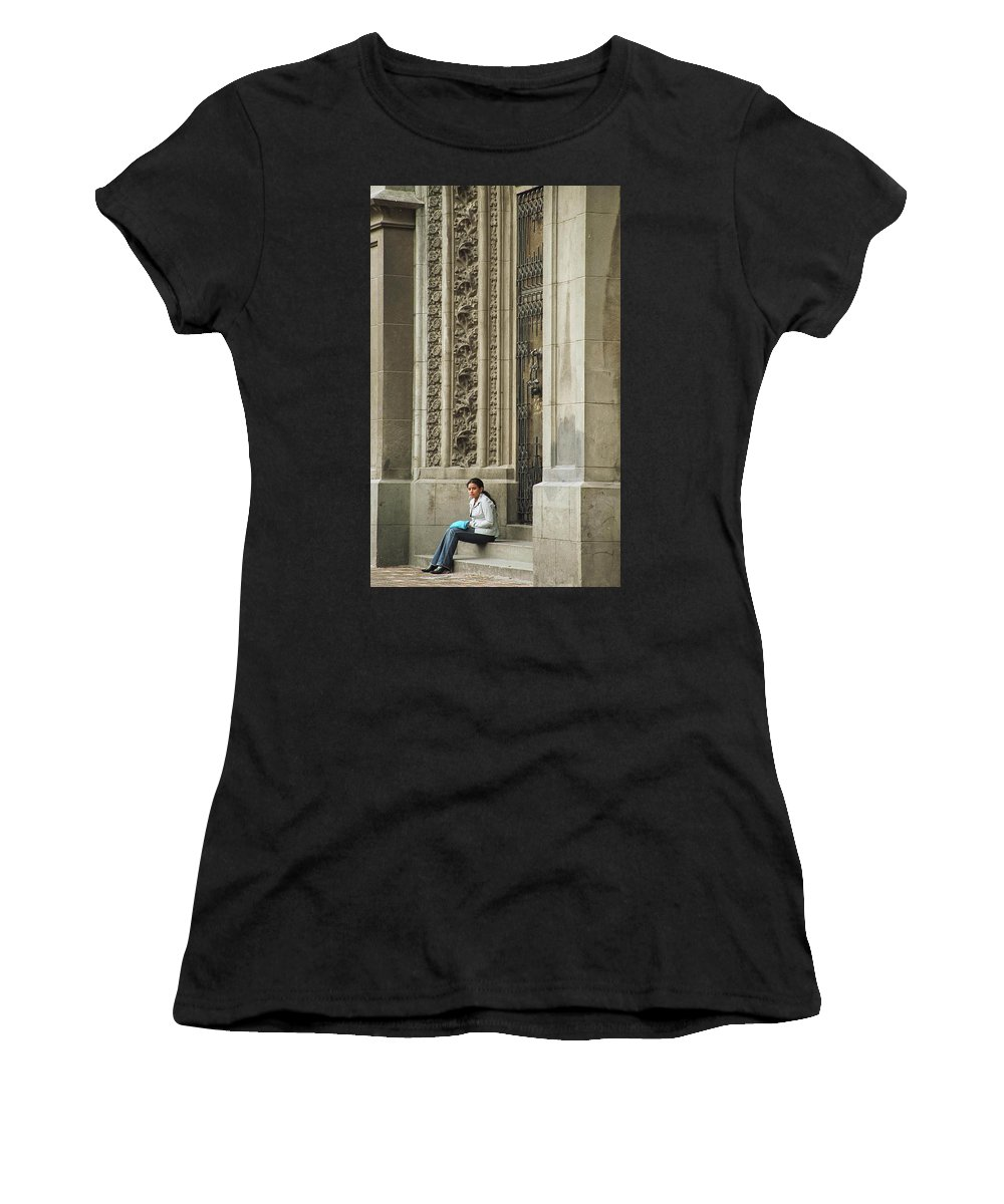 Church Women's T-Shirt (Athletic Fit) featuring the photograph Waiting For God by Kathy McClure