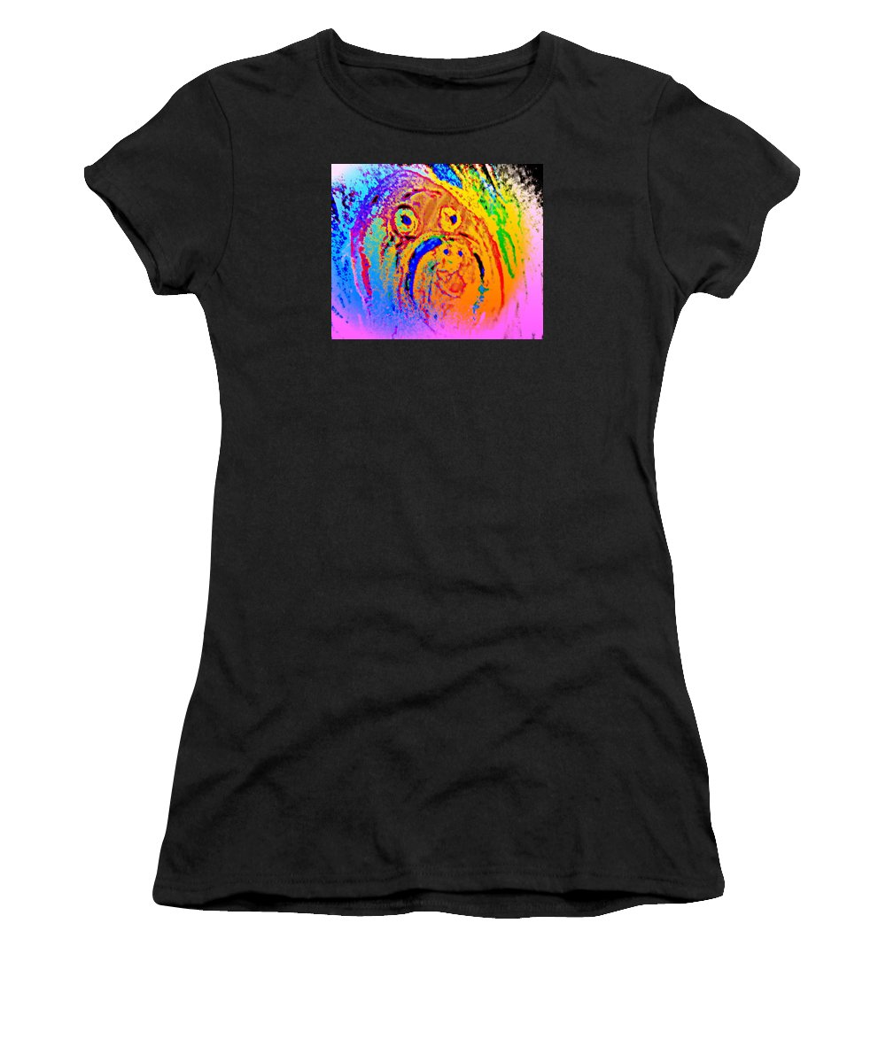Horses Women's T-Shirt featuring the photograph Wall Baby by Hilde Widerberg