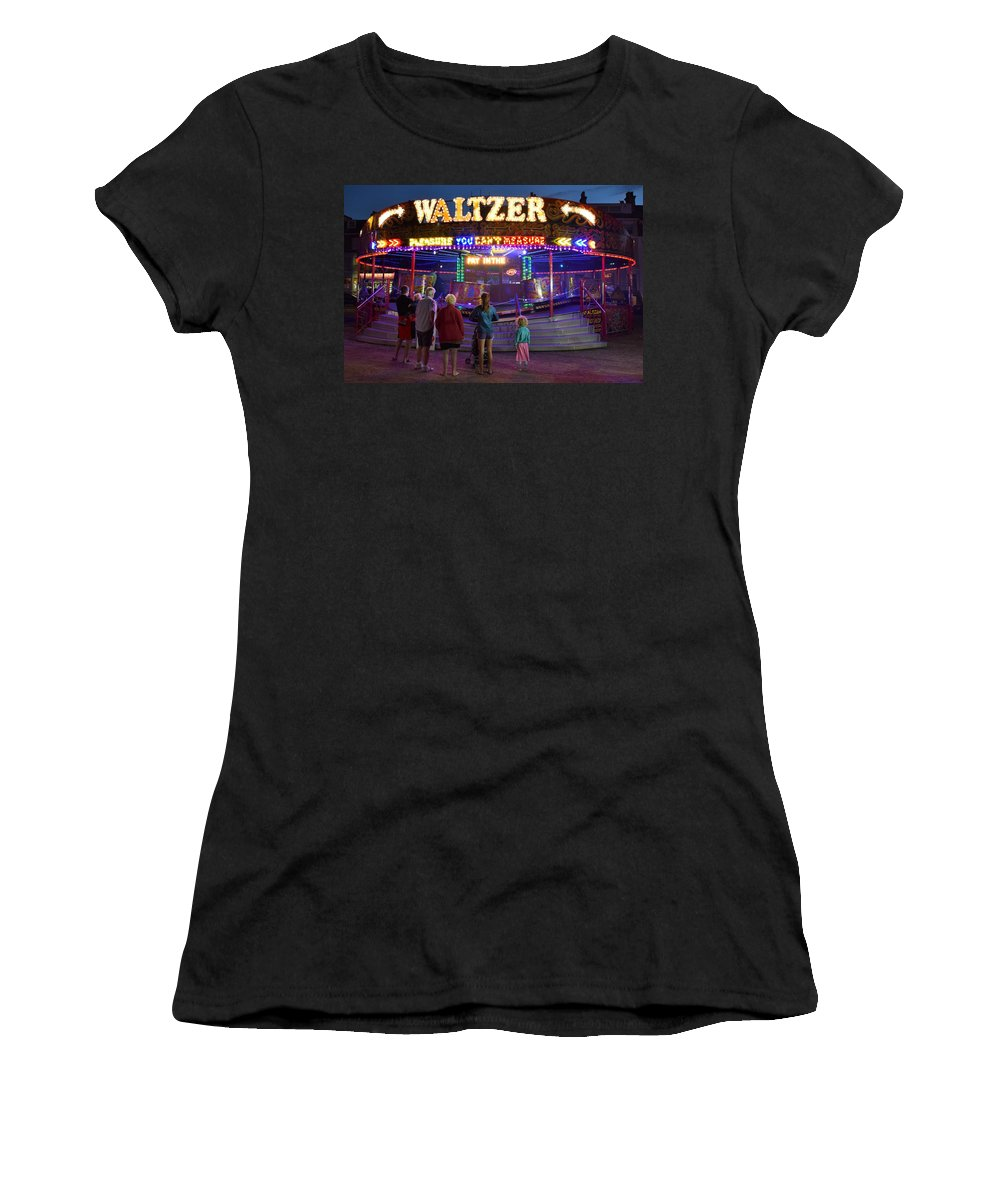 Fairground Women's T-Shirt (Athletic Fit) featuring the photograph Waltzer by Derek Walker