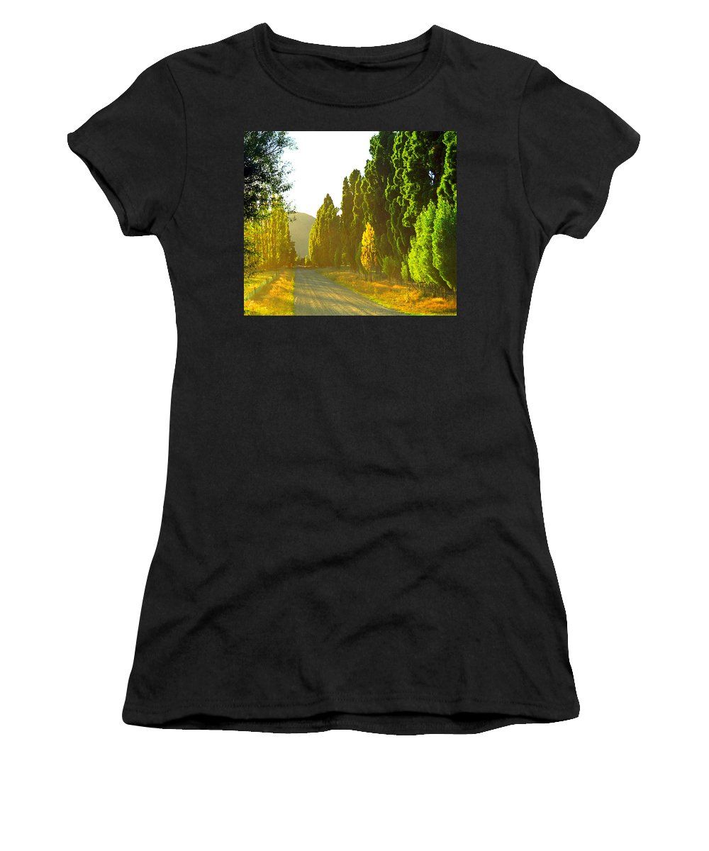 Wanaka Women's T-Shirt (Athletic Fit) featuring the photograph Wanaka Morning Light by Kevin Smith