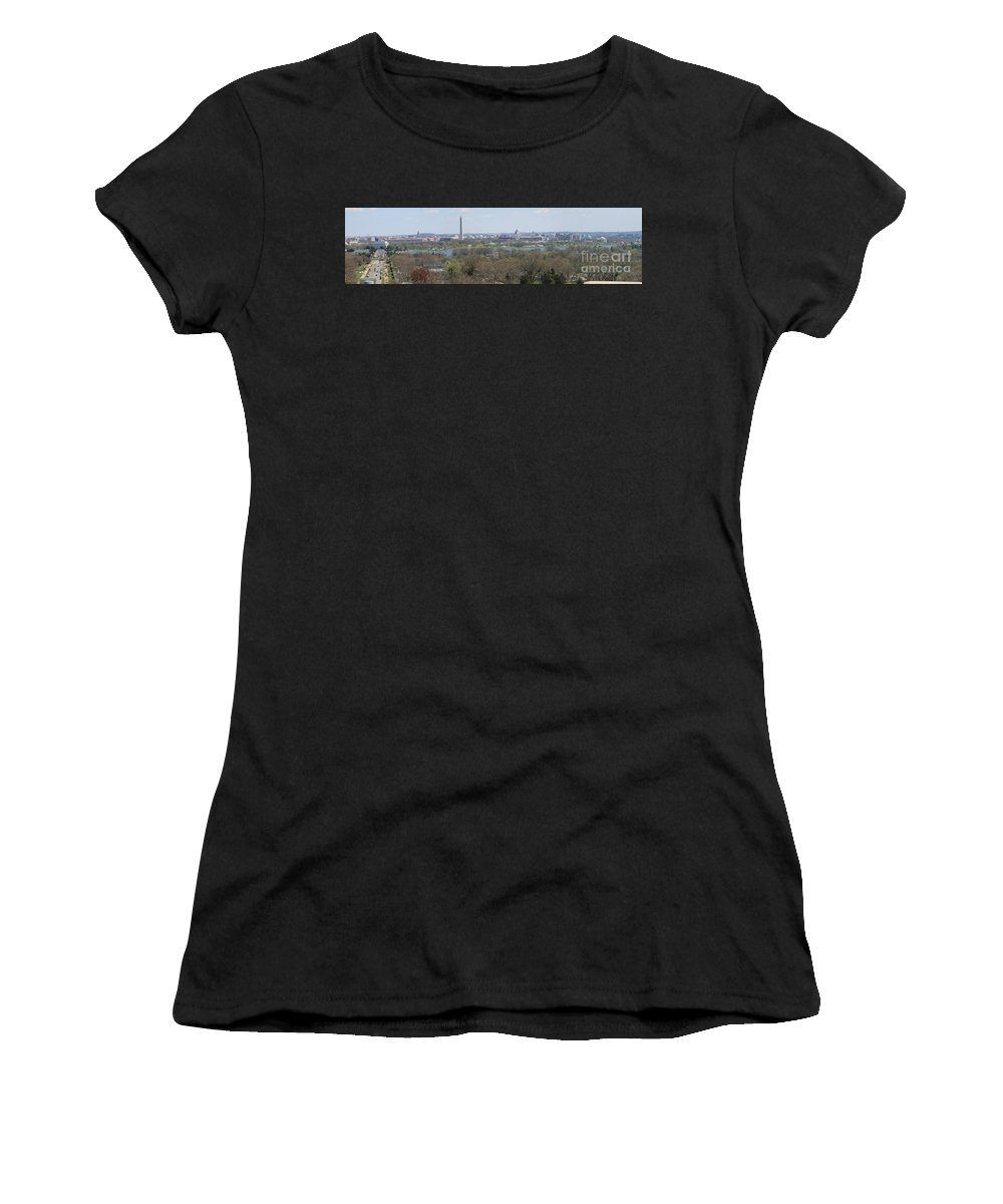 Washington Dc Women's T-Shirt (Athletic Fit) featuring the photograph Washington Dc View From Custis Lee House by Sandy Mayer