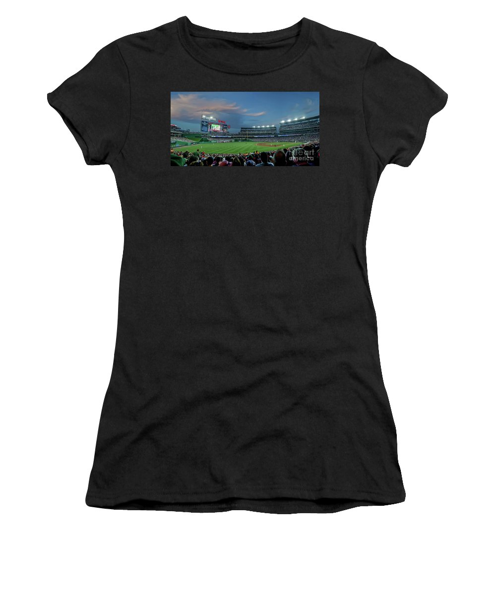 Red Sox Women's T-Shirt (Athletic Fit) featuring the photograph Washington Nationals In Our Nations Capitol by Thomas Marchessault