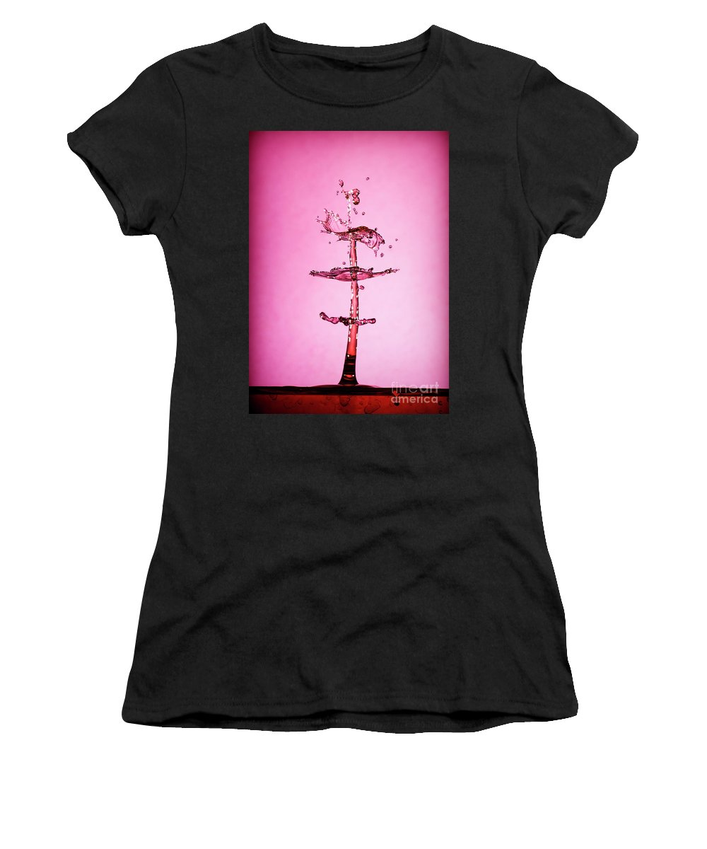 Water Drop Women's T-Shirt featuring the photograph Water Drop 24 by Larry White