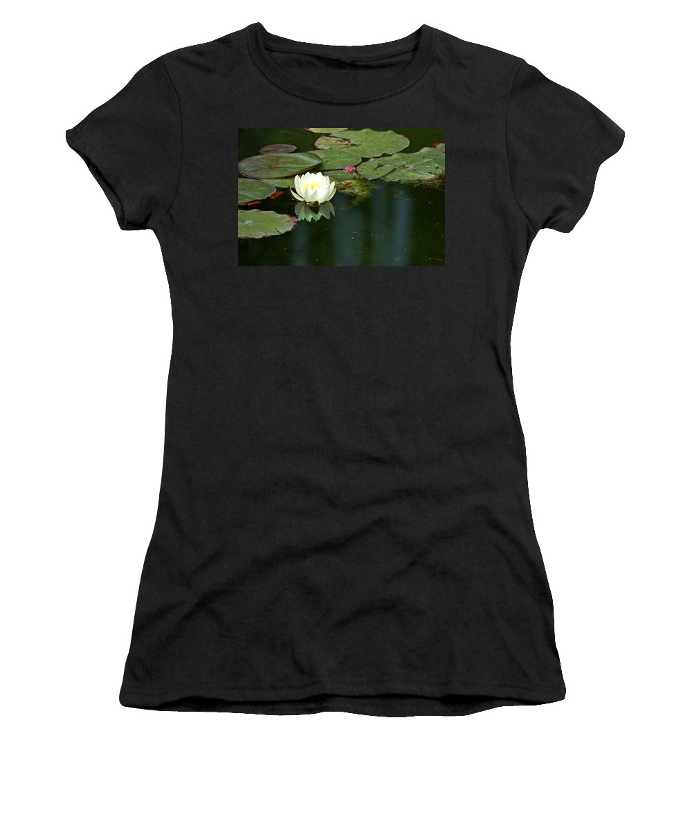Lily Women's T-Shirt (Athletic Fit) featuring the photograph Water Lily by Heather Coen