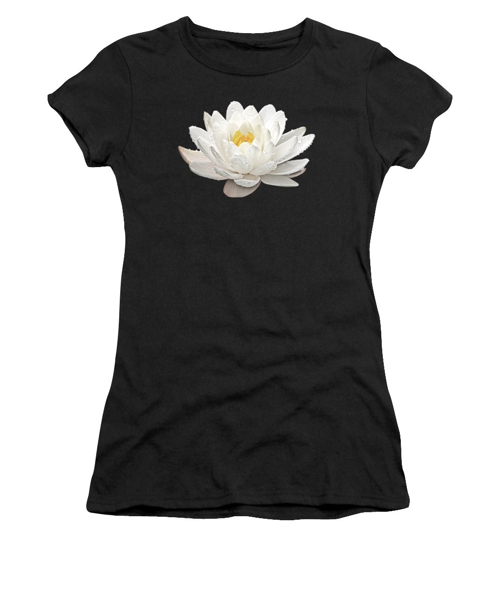 Water Lily Women's T-Shirt featuring the photograph Water Lily Whirlpool by Gill Billington