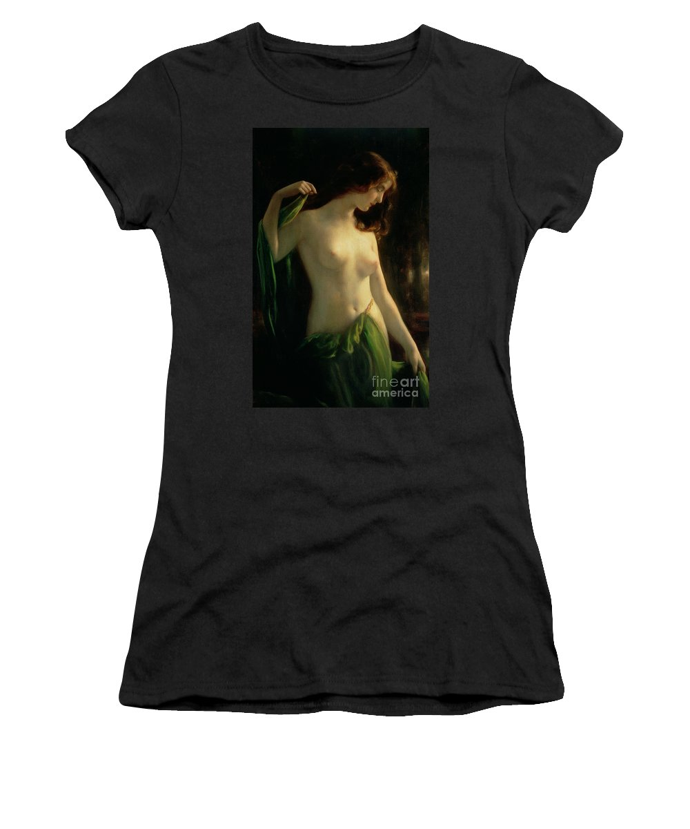 Water Nymph Women's T-Shirt featuring the painting Water Nymph by Otto Theodor Gustav Lingner