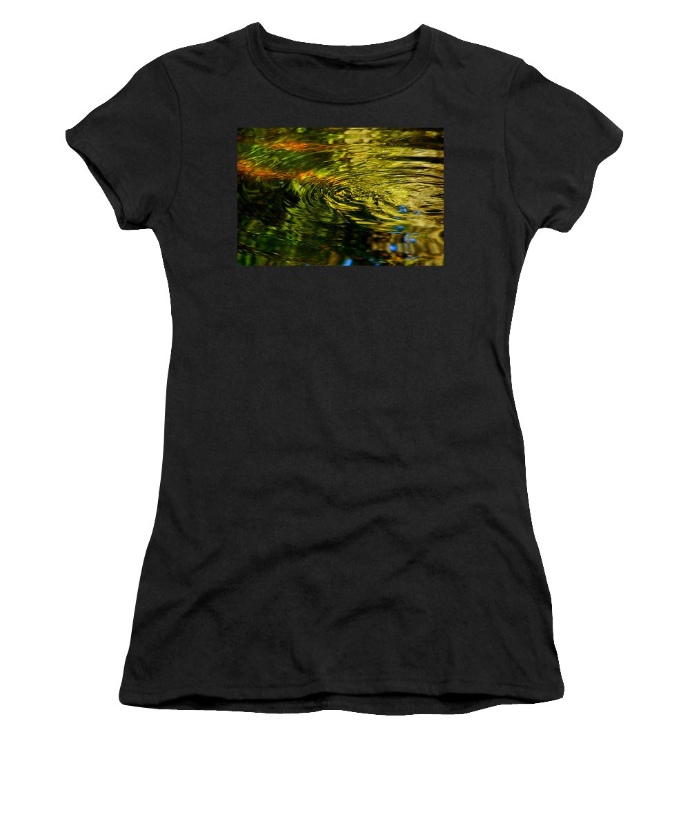 Water Swirl Women's T-Shirt (Athletic Fit) featuring the photograph Water Swirl by Susanne Van Hulst