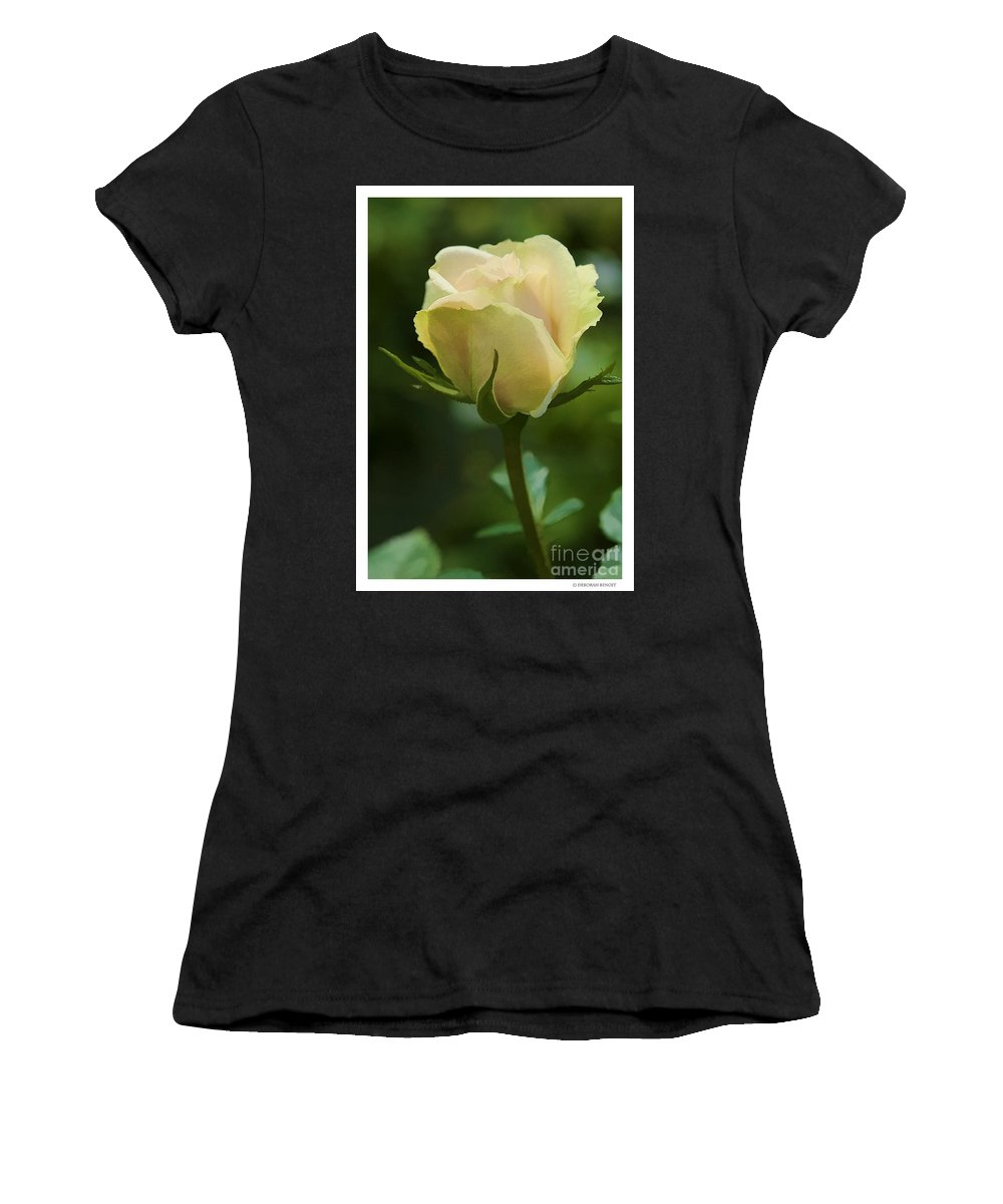 Rose Women's T-Shirt (Athletic Fit) featuring the photograph Watercolor Rose by Deborah Benoit