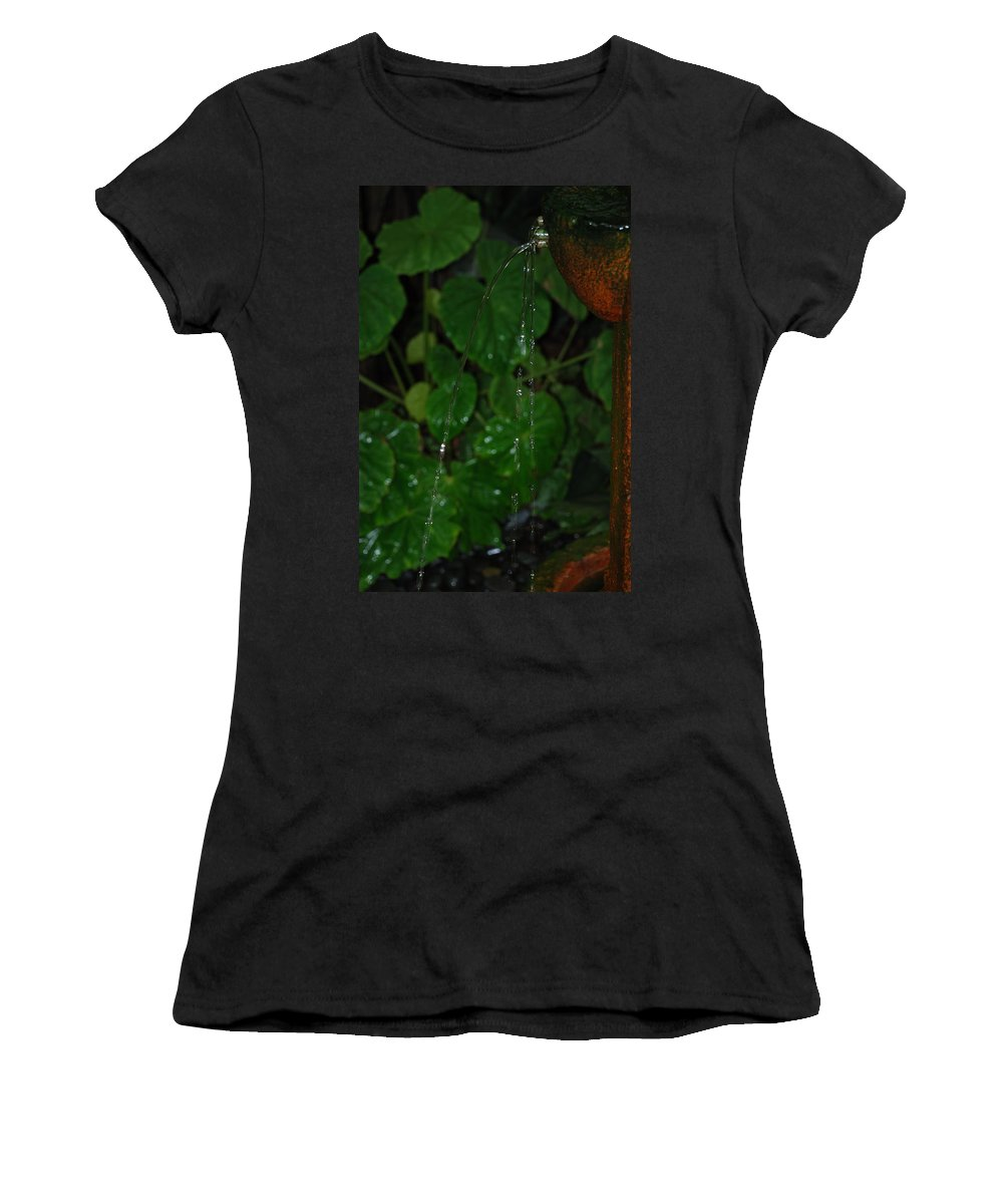 Macro Women's T-Shirt (Athletic Fit) featuring the photograph Waterfall by Rob Hans