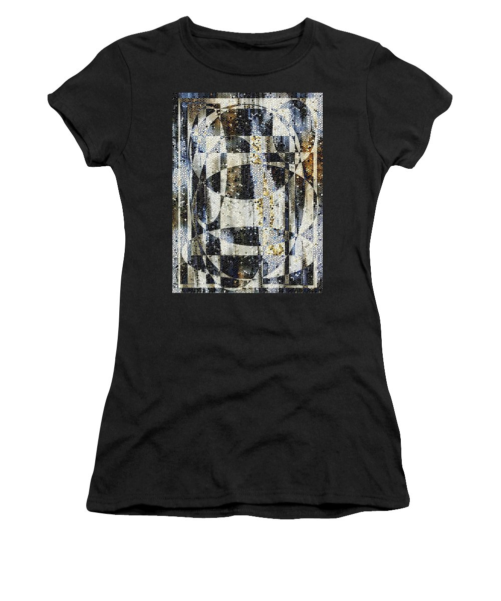 Mosaic Women's T-Shirt (Athletic Fit) featuring the photograph Waterfalling by Tim Allen