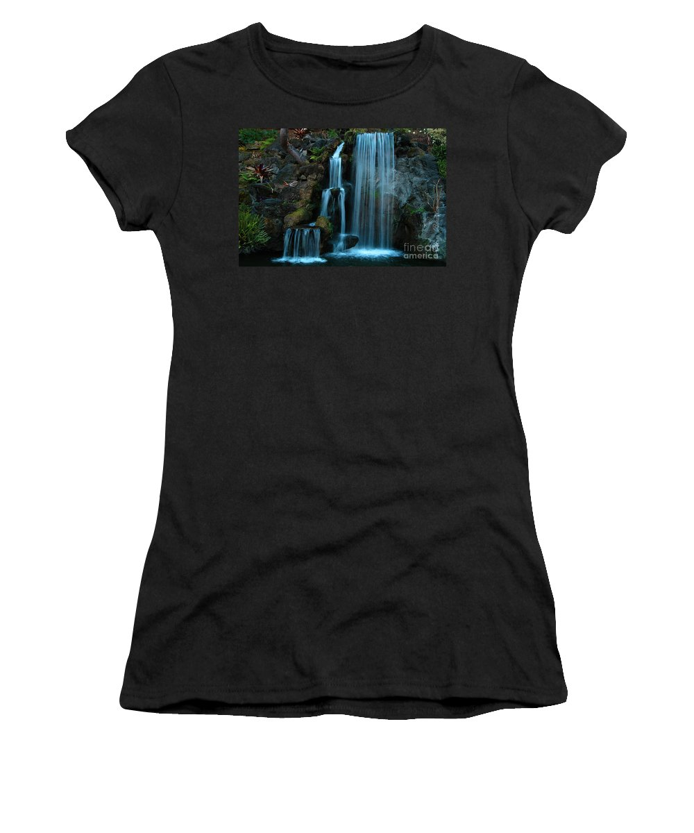 Clay Women's T-Shirt (Athletic Fit) featuring the photograph Waterfalls by Clayton Bruster