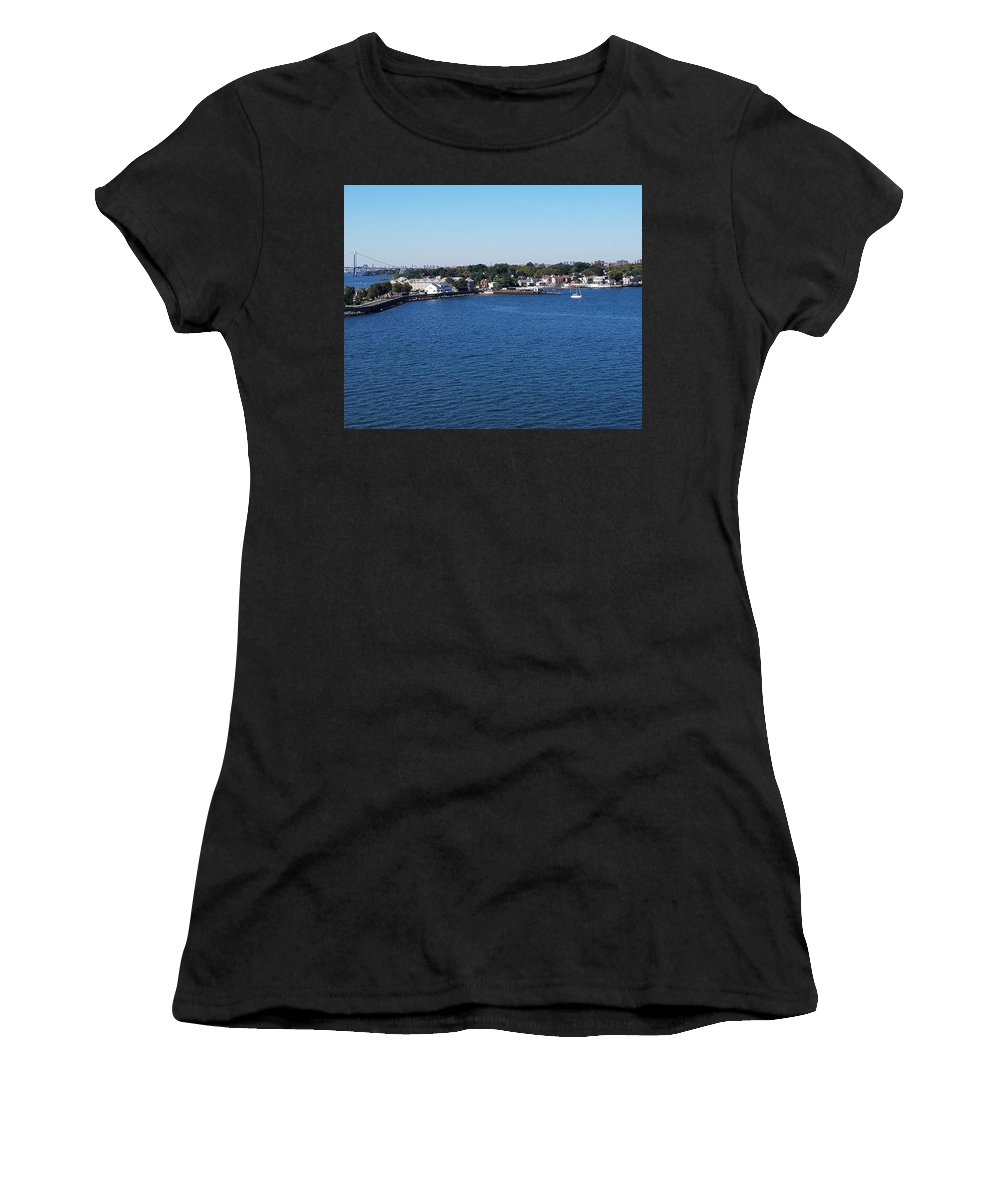 Water Women's T-Shirt featuring the photograph Waterfront by Theresa Radloff