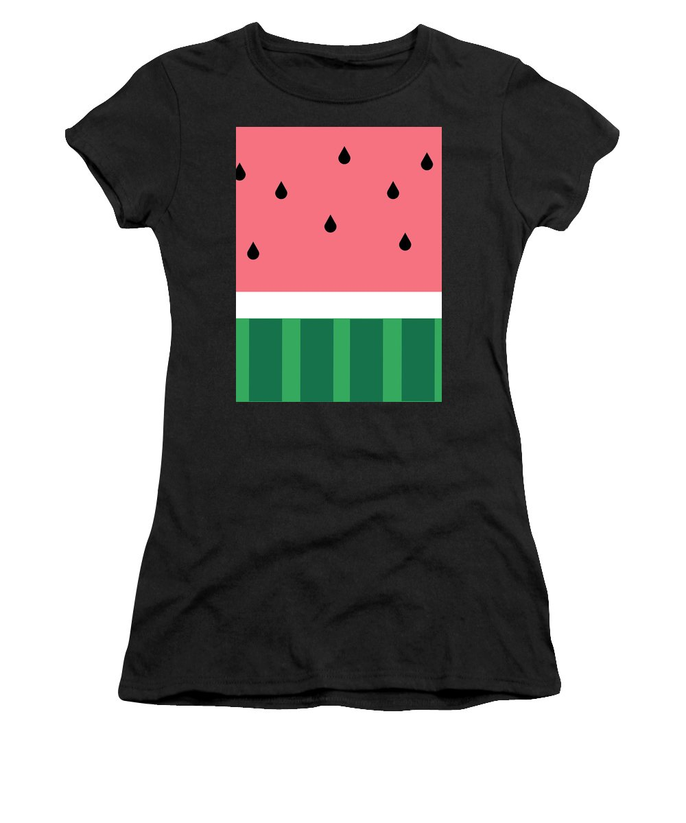 Watermelon Women's T-Shirt (Athletic Fit) featuring the digital art Watermelon by Emily Brookes