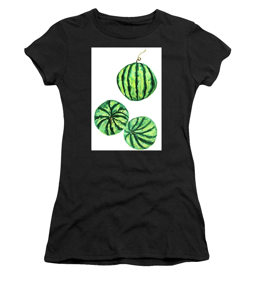 Watermelon Watercolor Womens T Shirt For Sale By Color Color