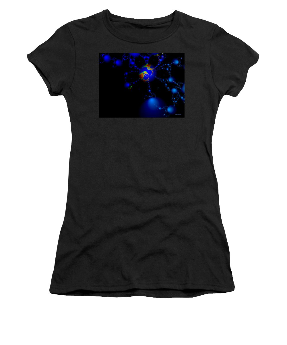 Earth Women's T-Shirt (Athletic Fit) featuring the digital art We Are All Connected by Claire Bull