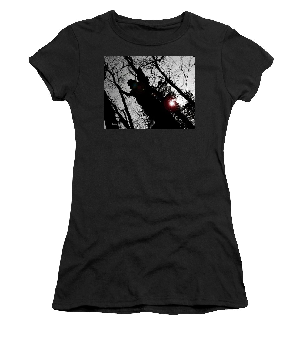 Angel Women's T-Shirt (Athletic Fit) featuring the photograph We Are Everywhere by Betsy Knapp