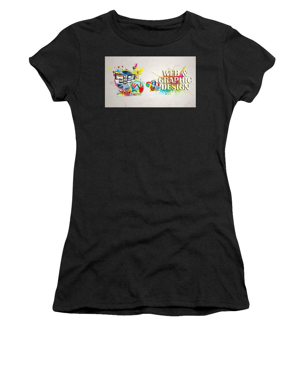Best Women's T-Shirt (Athletic Fit) featuring the photograph Web Design Company In Noida-wondermouse by LalitMathur