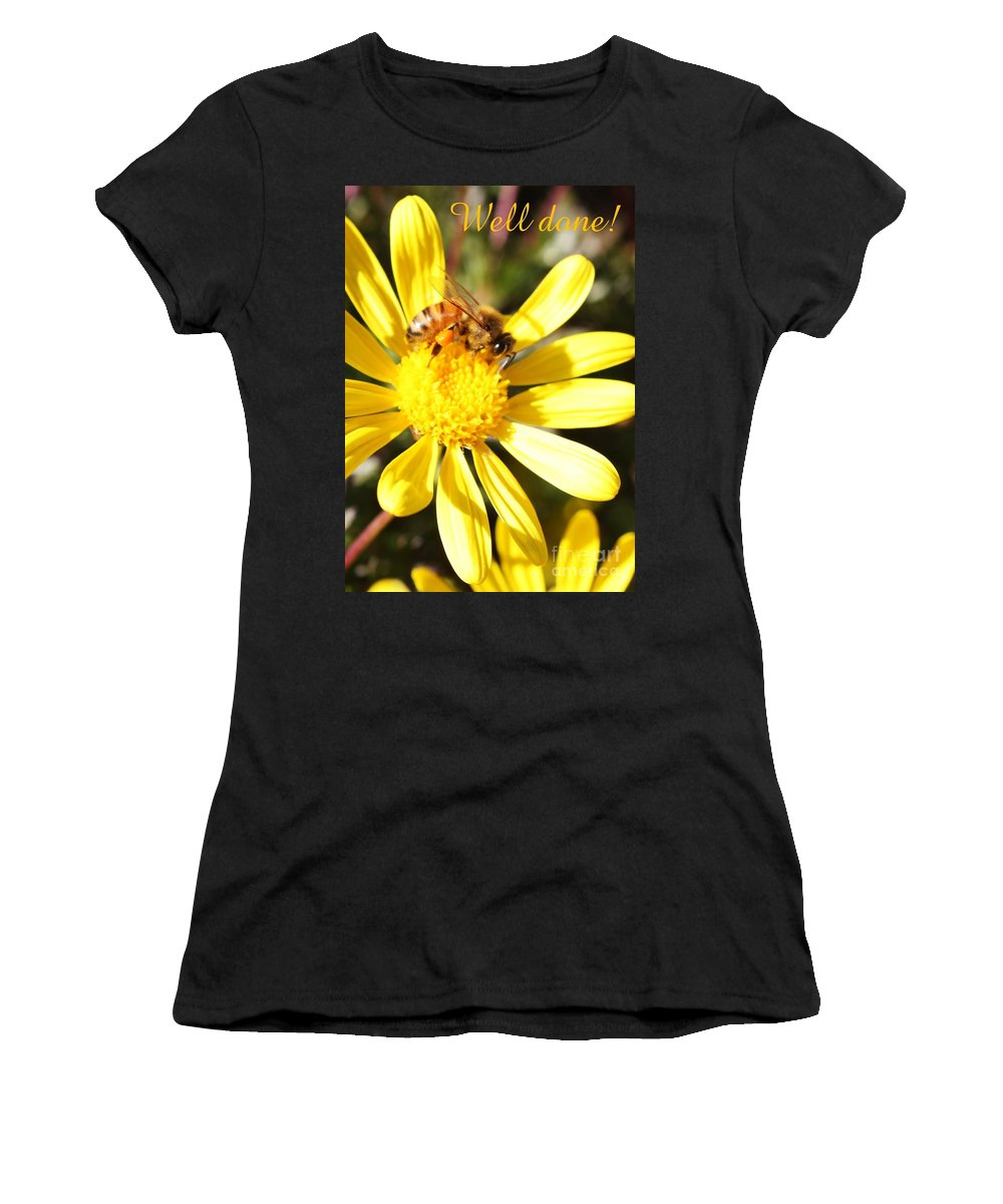 Card Women's T-Shirt (Athletic Fit) featuring the photograph Well Done Card by Carol Groenen
