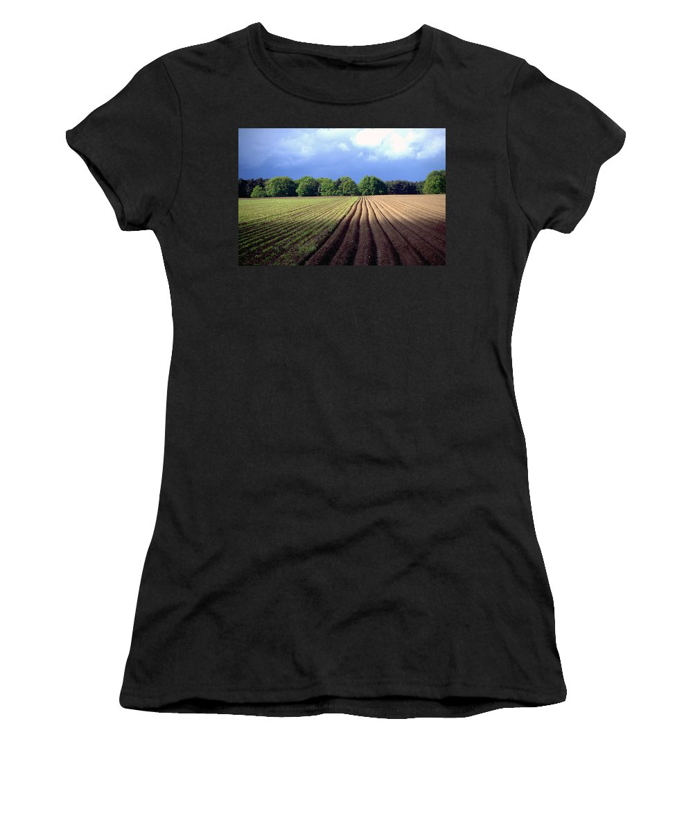 Wendland Women's T-Shirt (Athletic Fit) featuring the photograph Wendland by Flavia Westerwelle