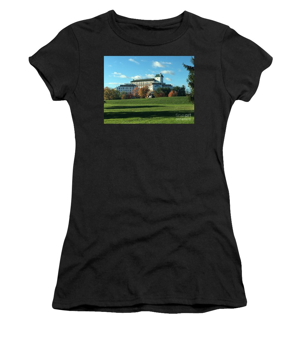 Westchester Country Club Women's T-Shirt (Athletic Fit) featuring the photograph Westchester Country Club by Christy Gendalia