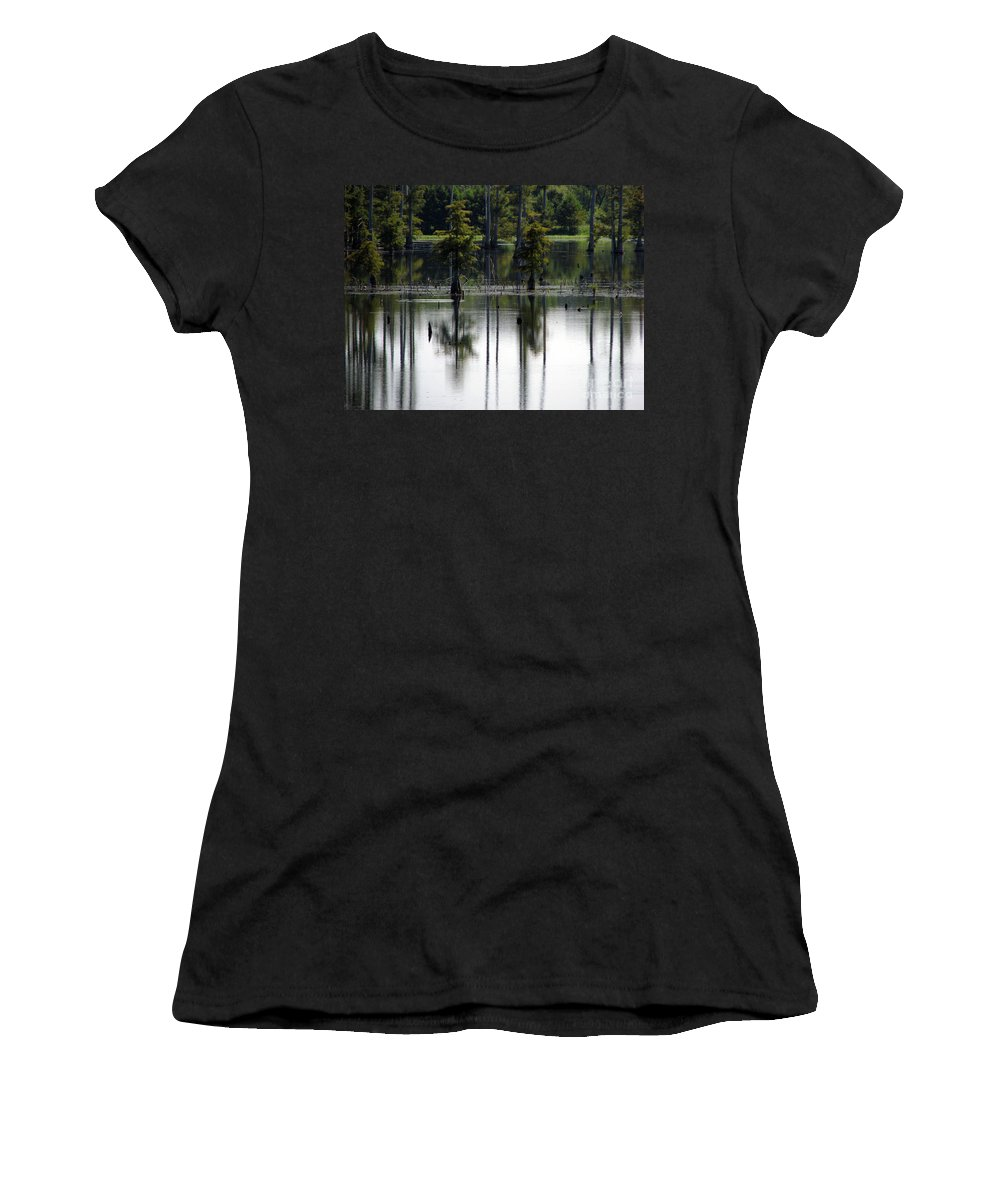 Wetlands Women's T-Shirt (Athletic Fit) featuring the photograph Wetland by Amanda Barcon