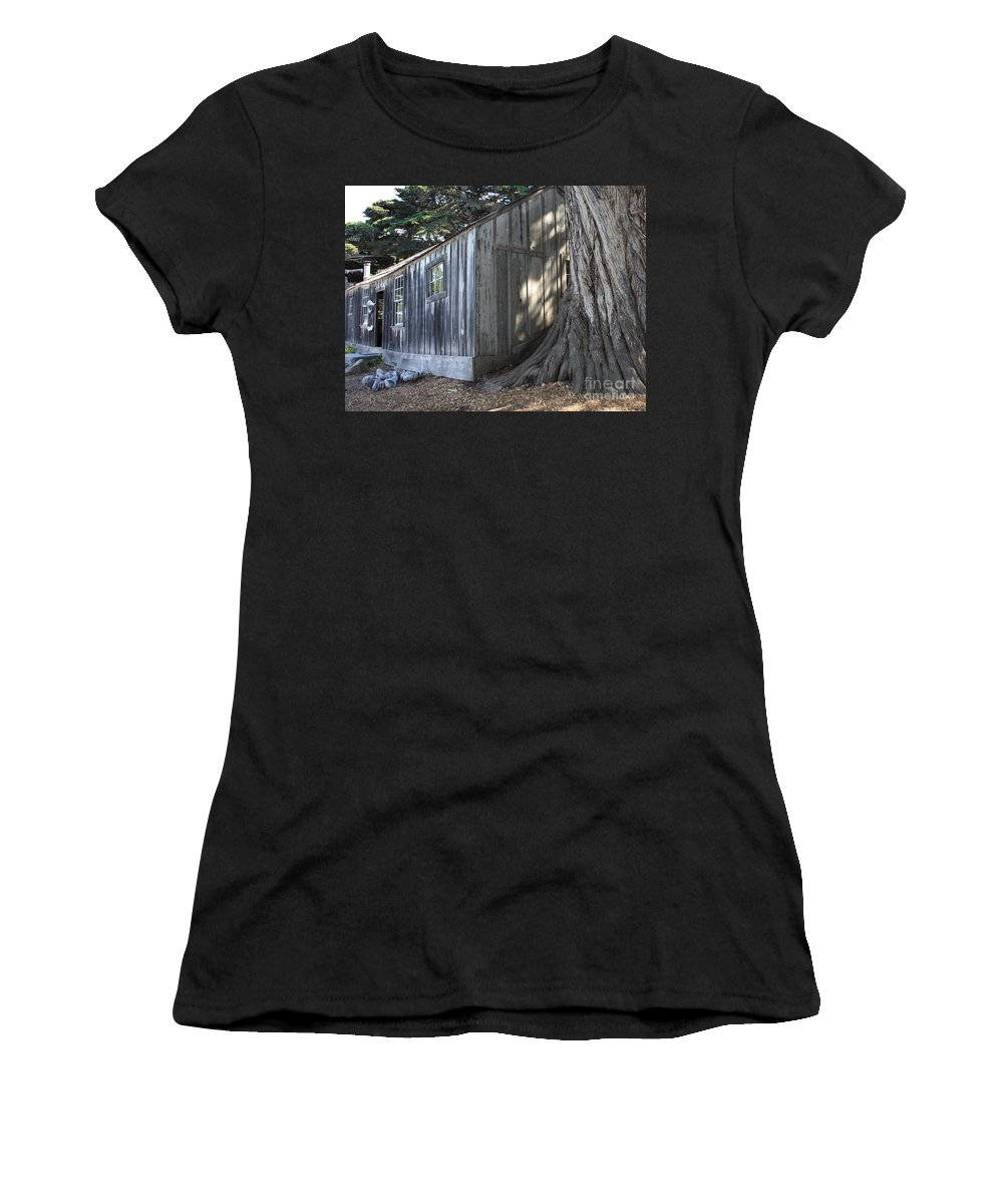 Women's T-Shirt (Athletic Fit) featuring the photograph Whalers Cabin by Carol Groenen