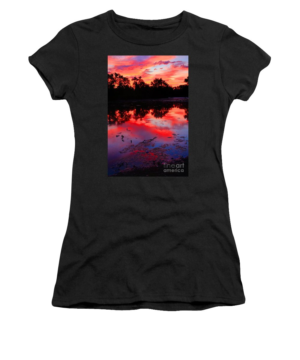 Related Tags:robert Pearson Women's T-Shirt (Athletic Fit) featuring the photograph What A Morning by Robert Pearson