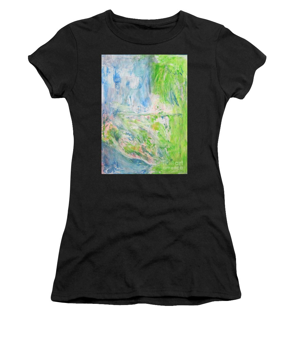Acrylic Colors Women's T-Shirt featuring the painting Whatever You See by Pilbri