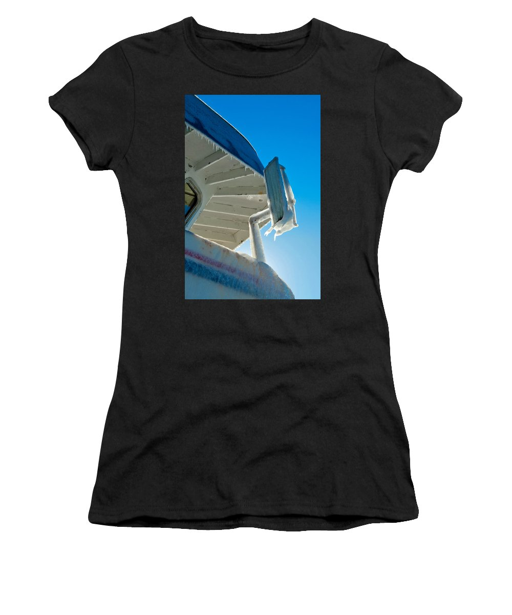 Women's T-Shirt (Athletic Fit) featuring the photograph Wheelhouse by Cathy Mahnke