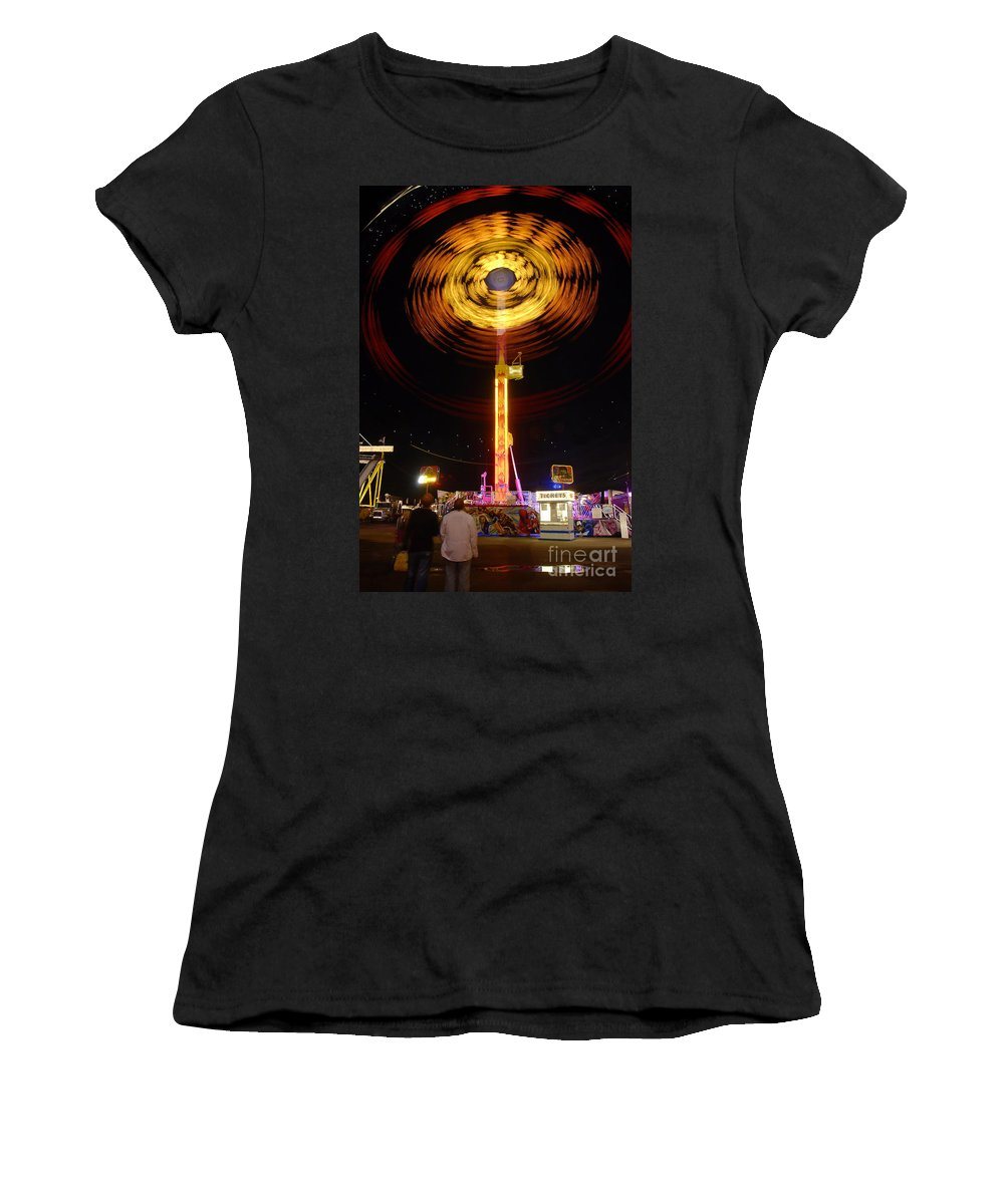 Fair Women's T-Shirt (Athletic Fit) featuring the photograph Wheels Of Wonder by David Lee Thompson