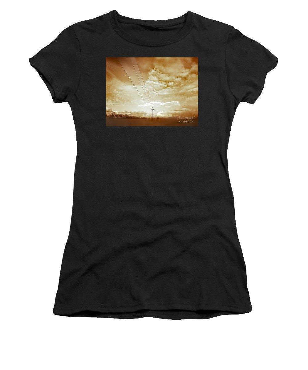 Eva Maria Nova Women's T-Shirt featuring the photograph When It Is Cold Outside by Eva Maria Nova