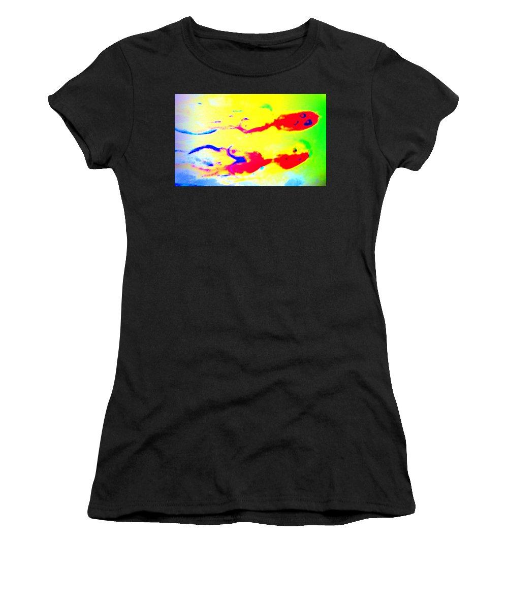 Parent Women's T-Shirt featuring the photograph When We Were Swimming Together by Hilde Widerberg