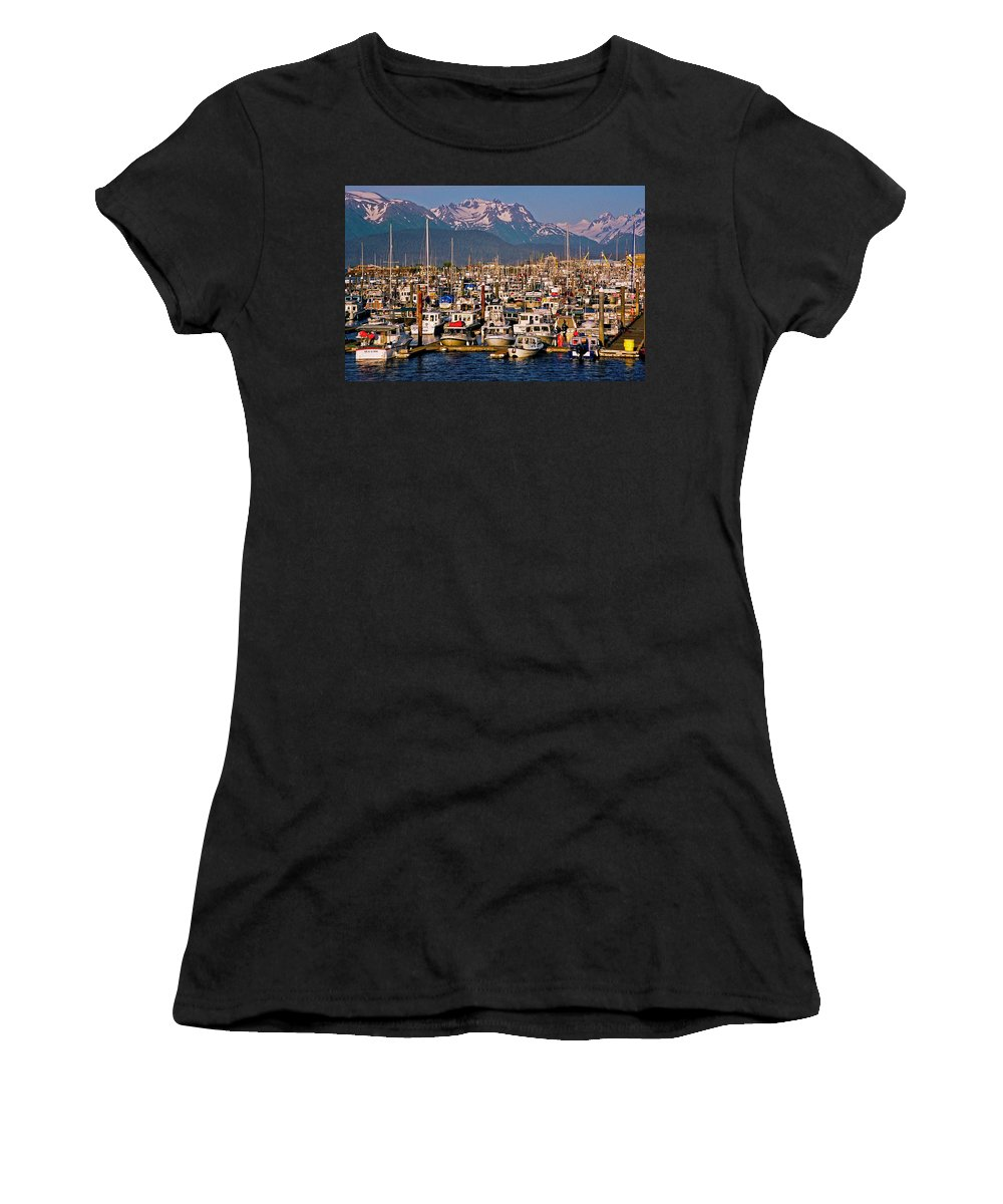 North America Women's T-Shirt (Athletic Fit) featuring the photograph Where The Land Ends ... by Juergen Weiss