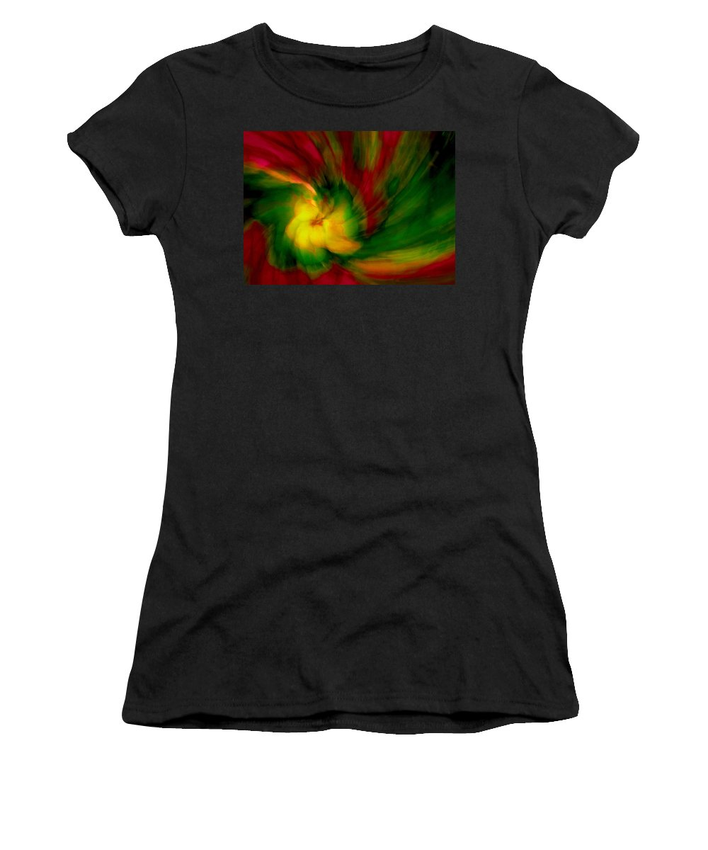 Abstract Women's T-Shirt (Athletic Fit) featuring the photograph Whirlwind Passion by Neil Shapiro