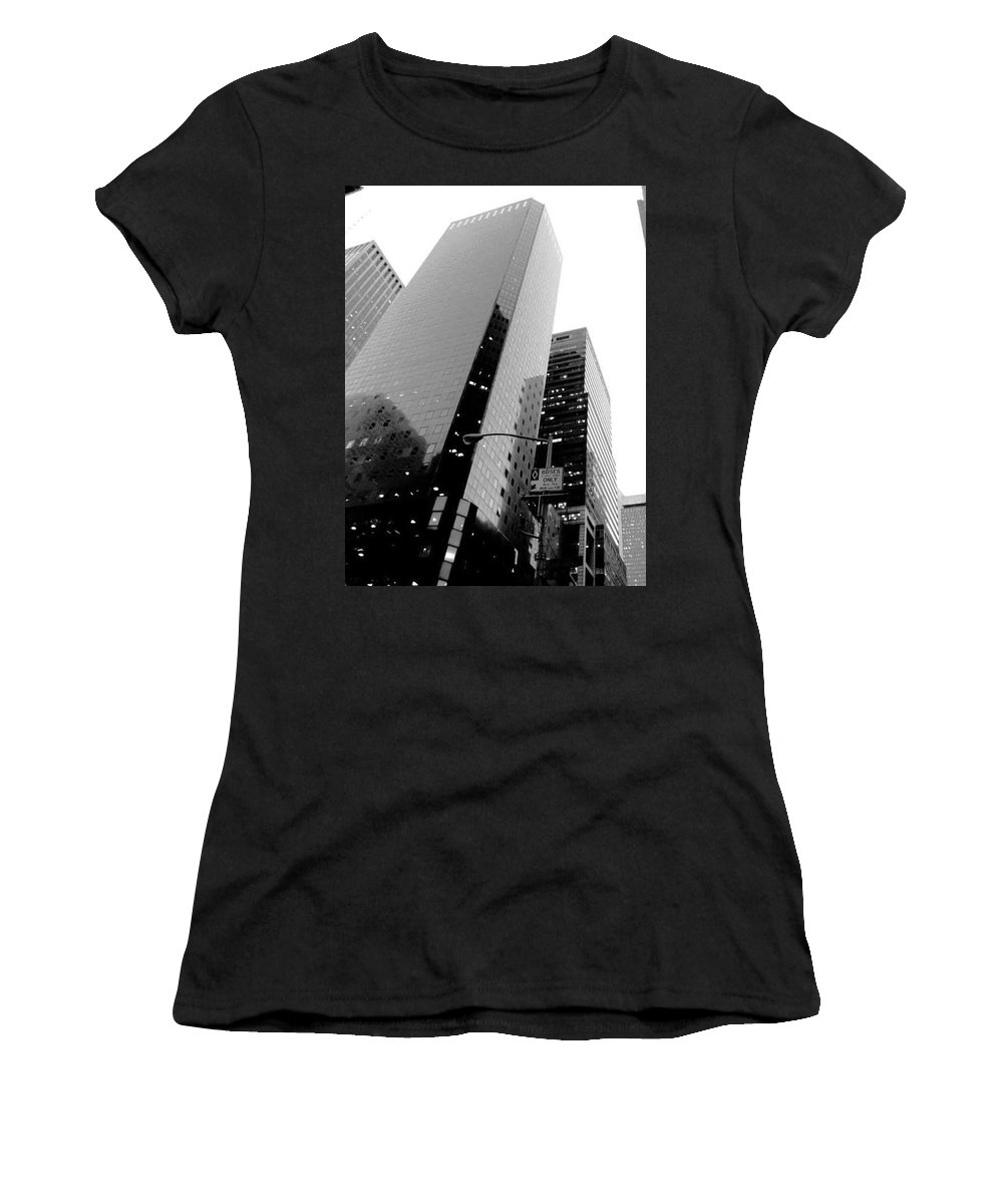 Women's T-Shirt (Athletic Fit) featuring the photograph White And Black Inspiration by Inga Kirilova