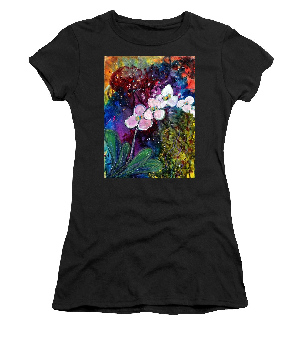 Flowers Women's T-Shirt featuring the painting White Orchid by Luiza Vizoli