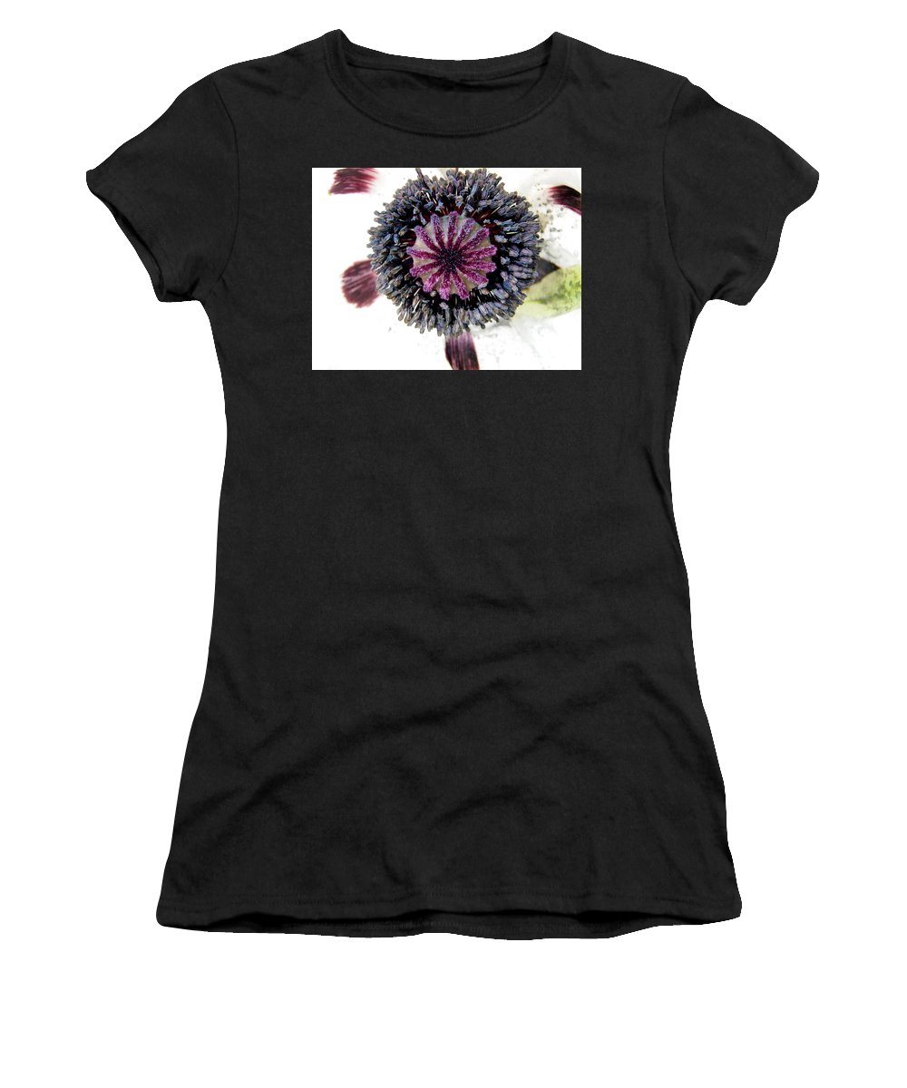 Poppy Women's T-Shirt (Athletic Fit) featuring the photograph White Poppy by Stephanie Moore