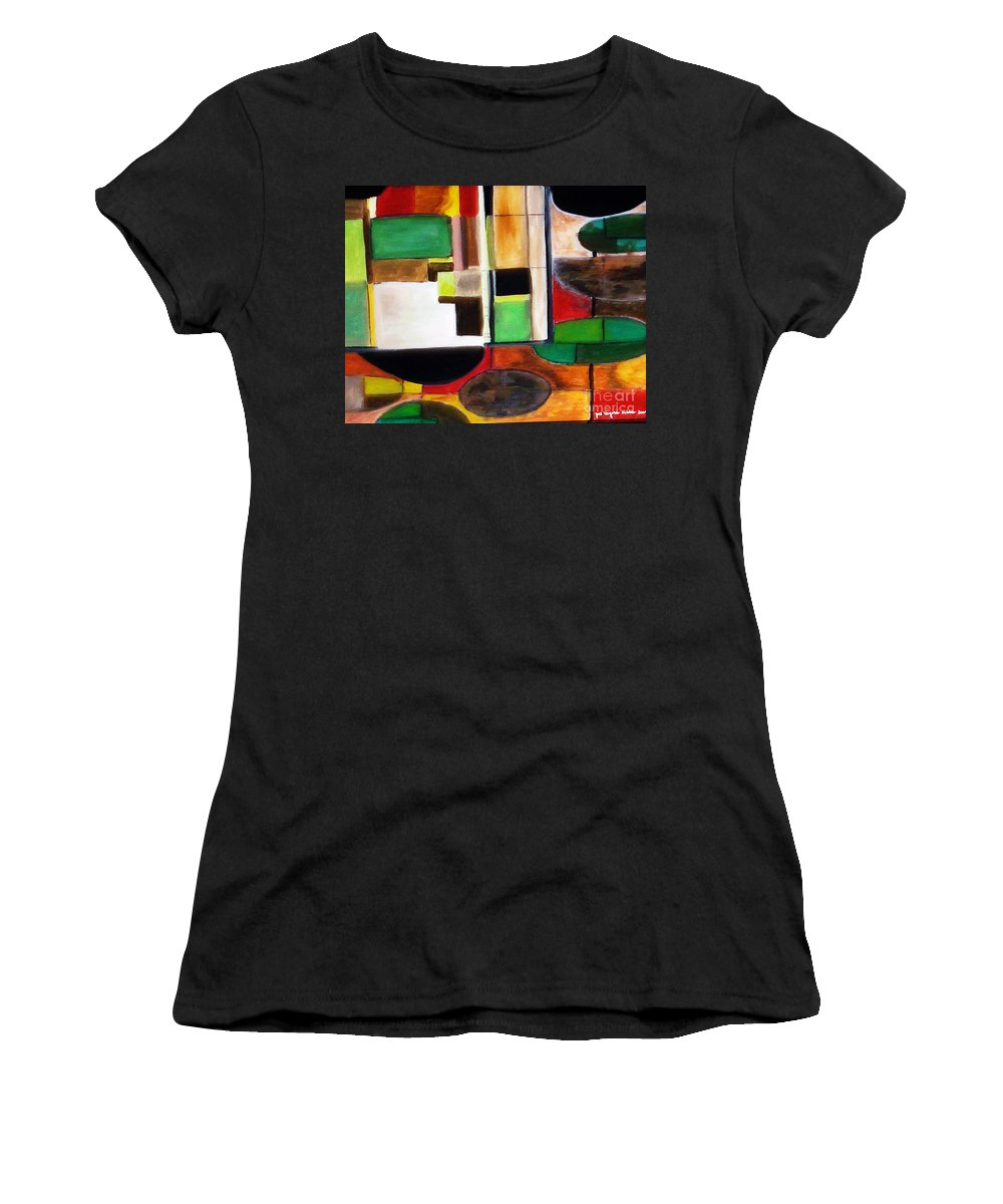 Acrylic Painting Women's T-Shirt (Athletic Fit) featuring the painting Wholeness by Yael VanGruber