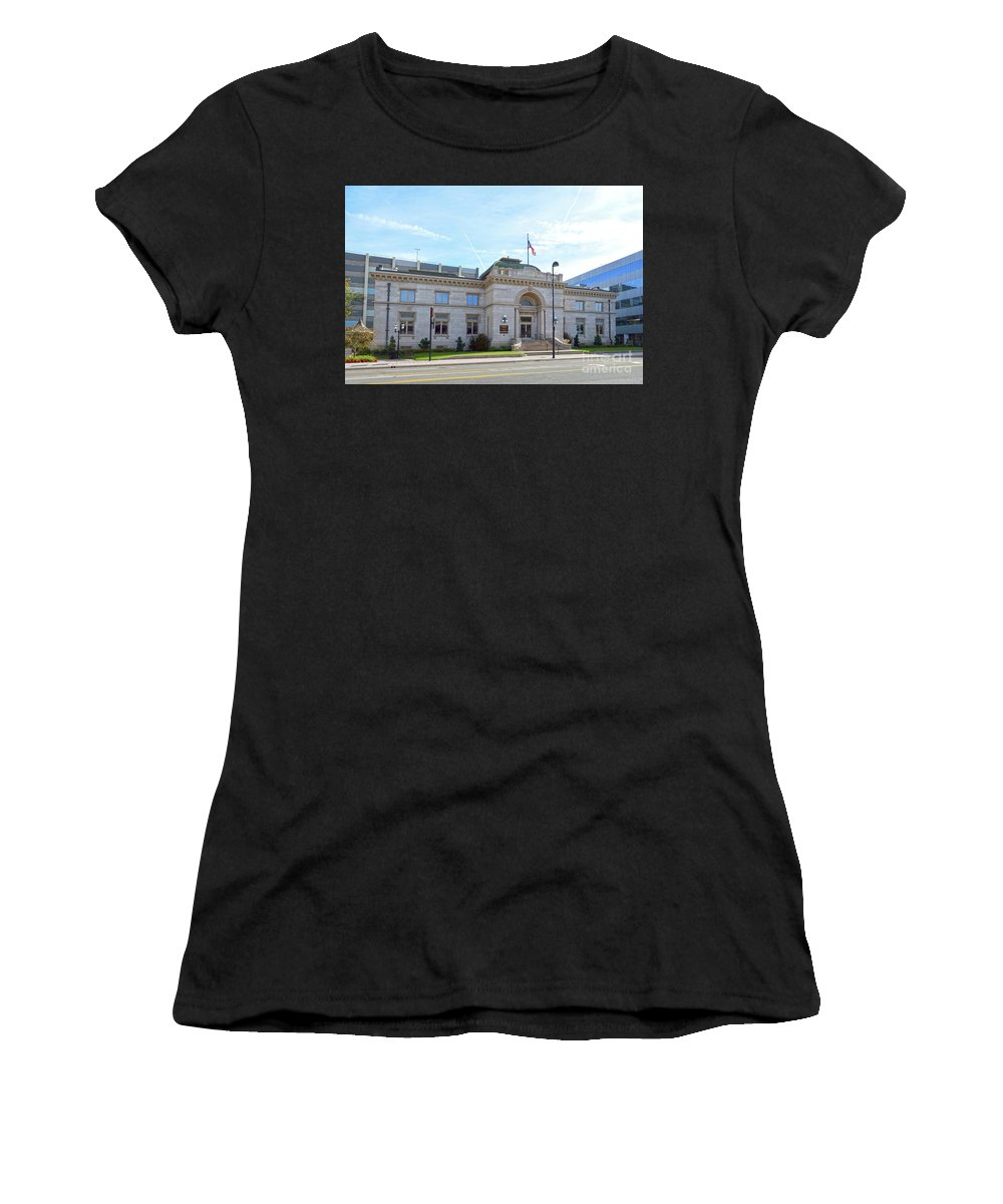 Carnegie Library Women's T-Shirt (Athletic Fit) featuring the photograph Wichita Carnegie Library by Catherine Sherman