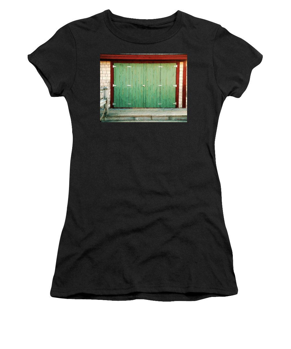 Barn Women's T-Shirt (Athletic Fit) featuring the painting Wide Barn Door by RC DeWinter