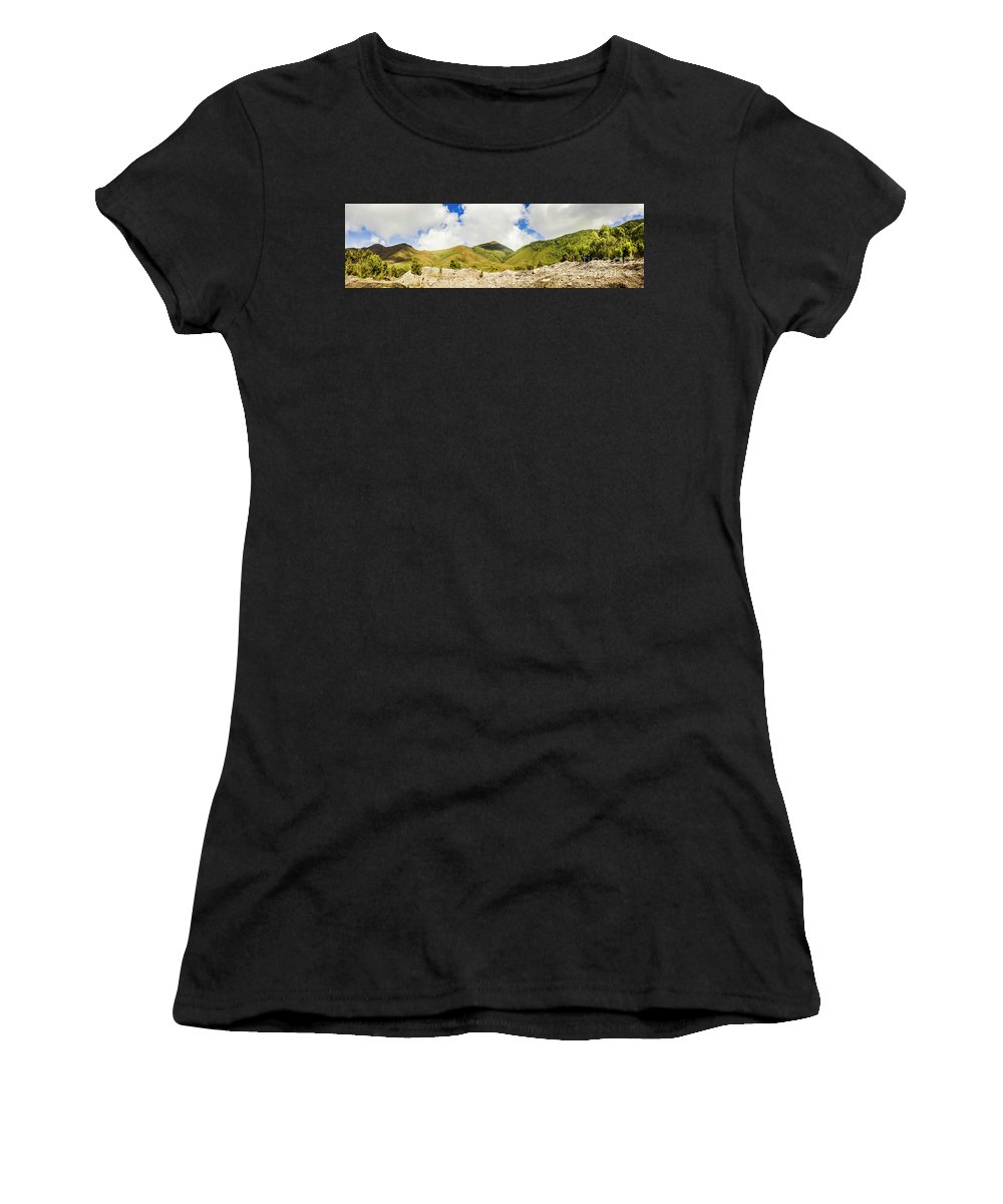 Tasmania Women's T-Shirt featuring the photograph Wide West Coast Of Tasmania by Jorgo Photography - Wall Art Gallery