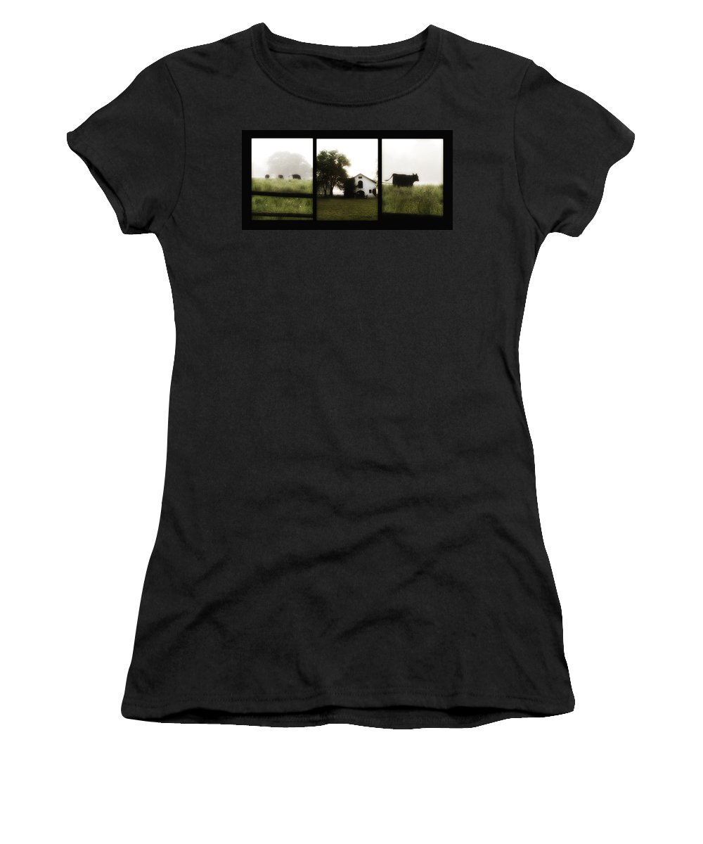 Widner Women's T-Shirt (Athletic Fit) featuring the photograph Widner Farms by Bill Cannon