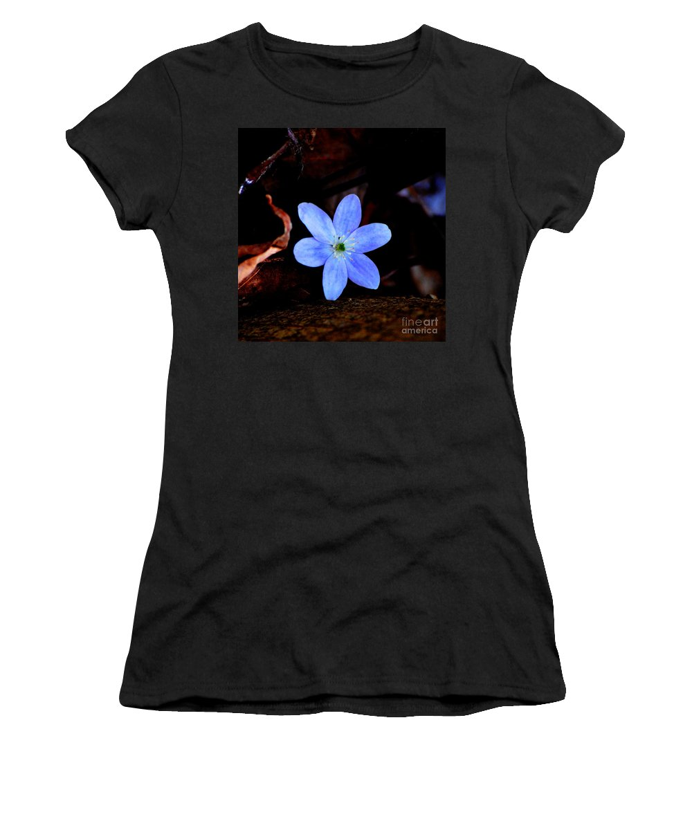 Digital Photo Women's T-Shirt (Athletic Fit) featuring the photograph Wild Blue by David Lane