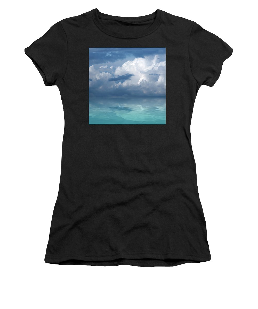 Cloudscape Women's T-Shirt (Athletic Fit) featuring the photograph Wild Days by Gill Billington