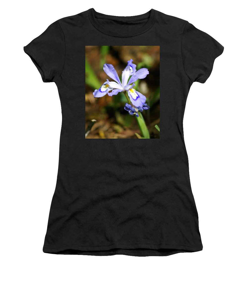 Wild Iris Women's T-Shirt (Athletic Fit) featuring the photograph Wild Iris by Marty Koch