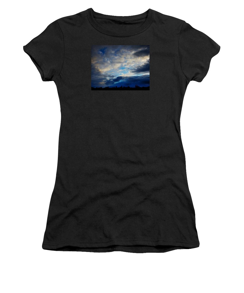 Sunset Women's T-Shirt (Athletic Fit) featuring the photograph Wild Sunset by Mark Blauhoefer